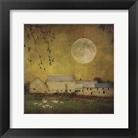 Framed Sheep Under a Harvest Moon