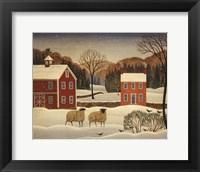 Framed Winter Sheep I
