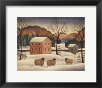 Framed Winter Sheep II