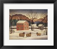 Framed Winter Sheep II
