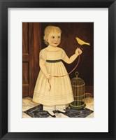 Framed Girl with Bird