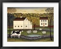 Framed White Farm