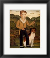 Framed Boy with Dog