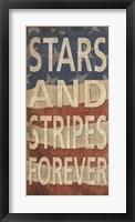 Stars and Stripes Forever Framed Print