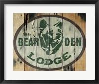 Framed Bear Den Lodge