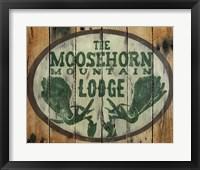 Framed Moosehorn Mountain Lodge