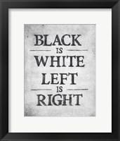 Framed Black is White