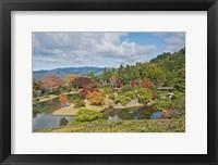 Framed Yokuryuichi Pond, Shugakuin Imperial Villa, Kyoto, Japan