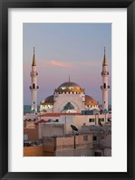 Framed Jordan, Kings Highway, Madaba, Town view with mosque