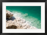 Framed Jordan, Dead Sea, Salt on the sea shore