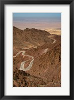 Framed Jordan, Winding highway from Wadi Musa to Wadi Araba