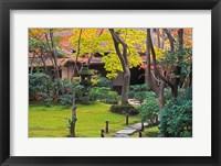 Framed Okochi Sanso, Arashiyama, Kyoto, Japan
