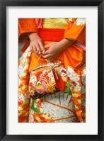 Framed Meriji Shrin, Shichigosan Festival, Harajuku, Tokyo, Japan