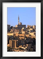 Framed Aerial view of traditional houses in Amman, Jordan