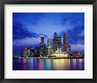 Framed Singapore Skyline at Night