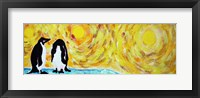 Framed Starry Night Penguin I