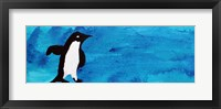 Framed Blue Penguin I
