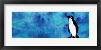 Framed Blue Penguin II