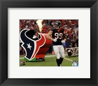 Framed J.J. Watt On Football Field