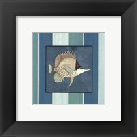 Fish on Stripes II Framed Print