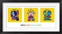Framed Happy Happy Happy