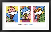 Framed I Love Ice Cream