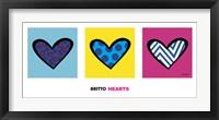 Framed Heart Triptych
