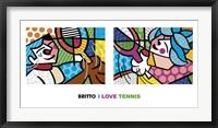 Framed I Love Tennis