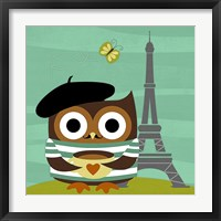 Framed Owl in Paris