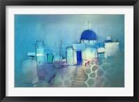 Framed Santorini Blue