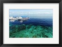 Framed Diving Boat, Sipadan, Semporna Archipelago, Borneo, Malaysia