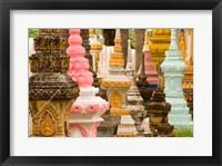 Framed Grave Stupas at Wat Si Saket, Vientiane, Laos