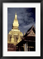 Framed Pha That Luang (Great Stupa), Vientiane, Laos