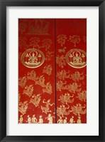 Framed Decorated Door at Wat Xeomg Tong, Laos