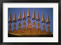 Framed Temple Decoration, Vientiane, Laos