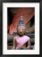 Framed Buddha in Sanctuary, Wat Phu Khmer, Champasak, Laos