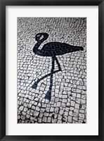 Framed China, Macau Portuguese tile designs - flamingo, Senate Square