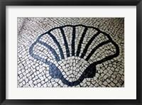 Framed China, Macau Portuguese tile designs - sea shell, Senate Square