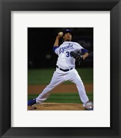 Framed Yordano Ventura Game 2 of the 2014 World Series Action