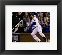 Framed Omar Infante Game 2 of the 2014 World Series Action