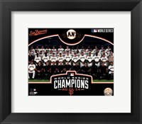 Framed San Francisco Giants 2014 World Series Champions Team Sit Down