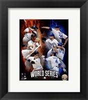 Framed 2014 MLB World Series Match Up Composite San Francisco Giants vs. Kansas City Royals