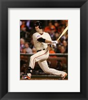 Framed Buster Posey Game 4 of the 2014 World Series batting