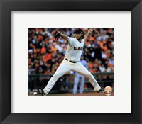 Framed Madison Bumgarner Game 5 of the 2014 World Series Action