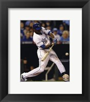 Framed Lorenzo Cain Game 6 of the 2014 World Series Action