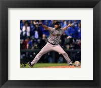 Framed Madison Bumgarner Game 7 of the 2014 World Series Action