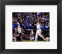 Framed Buster Posey & Madison Bumgarner celebrate winning Game 7 of the 2014 World Series