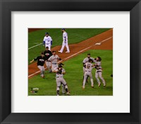 Framed San Francisco Giants celebrate winning Game 7  the 2014 World Series