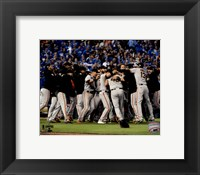 Framed San Francisco Giants celebrate winning Game 7 of the 2014 World Series