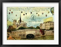 Framed Notre Dame Balloons